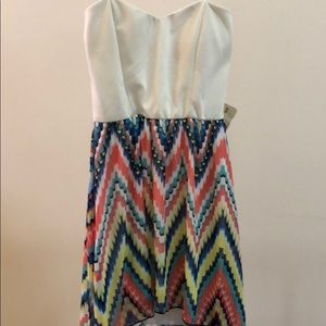 Dresses & Skirts - NWT Colorful Strapless High Low Maxi Dress